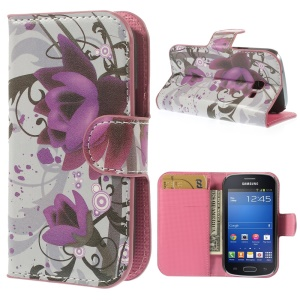 Beautiful Lotus Flower for Samsung Galaxy Trend Lite S7390 S7392 Leather Wallet Case