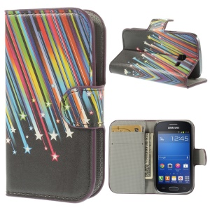 Colorful Meteor Leather Folio Stand Cover for Samsung Galaxy Trend Lite S7390 S7392