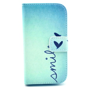 Smile Love Heart Wallet Leather Stand Case for Samsung Galaxy Trend Lite S7390 S7392