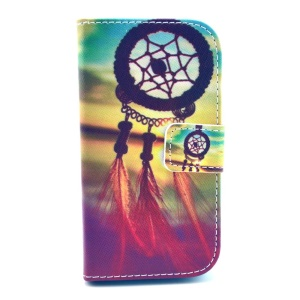 Sunset Dream Catcher Leather Magnetic Case w/ Stand for Samsung Galaxy Trend Lite S7390 S7392