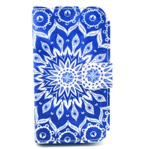Mandala Flowers Pattern PU Leather Stand Cover for Samsung Galaxy S Duos S7562 S7582 S7560