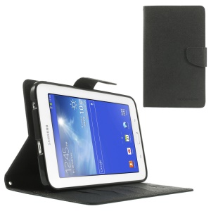 Mercury GOOSPERY Fancy Diary Leather Stand Case for Samsung Galaxy Tab 3 7.0 Lite T110 T111 - Black