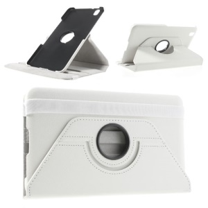 White 360-Degree Rotary Litchi Leather Stand Case for Samsung Galaxy Tab Pro 8.4 T320 T321 T325