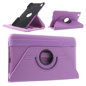 Lavender 360-Degree Rotating Litchi Leather Case for Samsung Galaxy Tab Pro 8.4 T320 w/ Stand
