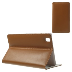 Doormoon Genuine Leather Case Cover w/ Stand for Samsung Galaxy Tab Pro 8.4 T320 T325 - Brown