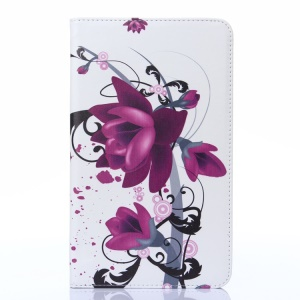 Elegant Lotus Protective Leather Shell Stand for Samsung Galaxy Tab 4 8.0 T330 T331 T335