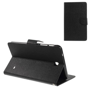 Mercury GOOSPERY Fancy Diary Series Leather Stand Case w/ Card Slots for Samsung Galaxy Tab 4 8.0 T330 T331 T335 - Black