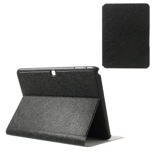 Graffiti Lines Leather Tablet Case Stand for Samsung Galaxy Tab 4 10.1 T530 T531 T535 - Black