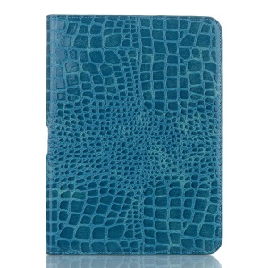 Blue for Samsung Galaxy Tab 4 10.1 LTE T535 Crocodile Texture Leather Protective Stand Shell