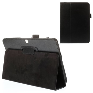 Black for Samsung Galaxy Tab 4 10.1 T531 T530 T535 Lychee PU Leather Stand Case