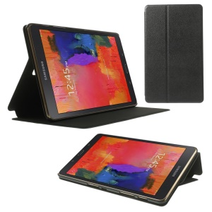 Sand-like Texture for Samsung Galaxy Tab S 8.4 T700 T705 Smart Leather Flip Stand Case - Black