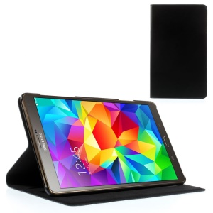 Doormoon Genuine Leather Case w/ Stand for Samsung Galaxy Tab S 8.4 T700 T705 - Black