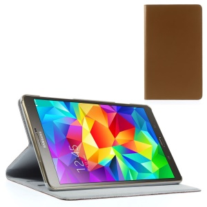 Doormoon Genuine Leather Cover w/ Stand for Samsung Galaxy Tab S 8.4 T700 T705 - Brown
