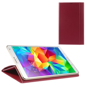 Dream Mesh Smart Leather Case w/ Stand for Samsung Galaxy Tab S 8.4 T700 T705 - Red