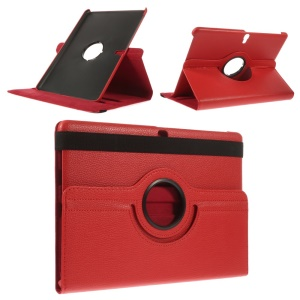 Litchi Grain Smart Leather Case with Rotary Stand for Samsung Galaxy Tab S 10.5 T805 - Red