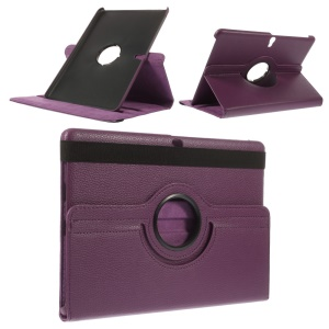 Litchi Grain for Samsung Galaxy Tab S 10.5 T800 Smart Leather Rotary Stand Cover - Purple
