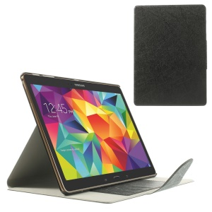 Black for Samsung Galaxy Tab S 10.5 T800 T805 Scribbled Lines Leather Smart Card Holder Case