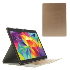 Gold for Samsung Galaxy Tab S 10.5 T805 Scribbled Lines Leather Stand Card Holder Cover