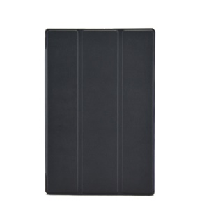 Black Tri-fold Stand Textured Smart Leather Case for Sony Xperia Z2 Tablet LTE SGP521 SGP541 SGP551 / Wi-Fi SGP511 SGP512