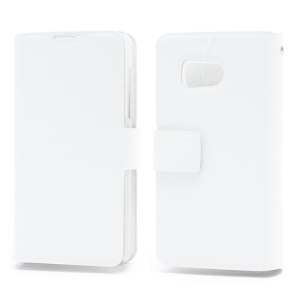 Doormoon Wallet Style Genuine Leather Phone Case for Huawei Ascend Y300 U8833 - White
