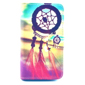 Leather Wallet Case for Huawei Ascend Y300 U8833 - Dreamcatcher Sunset
