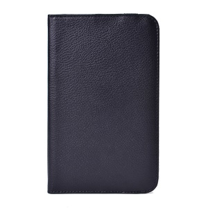 Black for LG G Pad 7.0 V400 Rotating Stand Litchi Grain Leather Case
