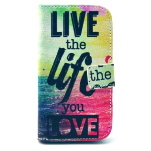 Wallet Leather Stand Case for Motorola Moto G XT1032 - Live the Life You Love