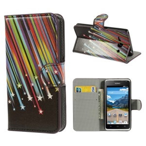 Meteor Shower Wallet Leather Stand Case for Huawei Ascend Y530 / C8813