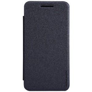 Nillkin Sparkle Series for Asus Zenfone 4 Sand-like Texture Folio Leather Case - Black