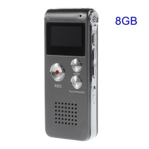 SK-012 Portable 8GB Digital Voice Recorder USB Flash Drive MP3 Player - Grey