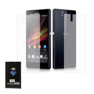 Diamond Full Body Front & Back LCD Screen Protector for Sony Xperia Z L36h C6603 Yuga