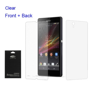 Premium Clear Full Body Front & Back Screen Protector Film for Sony Xperia Z L36h C6603 Yuga