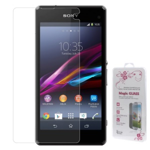 0.26mm 2.5D Anti-explosion Tempered Glass Screen Protector Cover Film for Sony Xperia Z1 Compact D5503 (Arc Edge)
