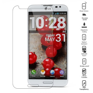 0.3mm Anti-explosion Tempered Glass LCD Screen Film for LG Optimus G Pro F240 F240K (Arc Edge)