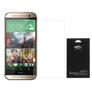 Clear Screen Protector Guard Film for HTC One M8 (with Black Package)