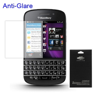 Frosted Anti-glare Front LCD Screen Protector Shield for BlackBerry Q10 (with Package)