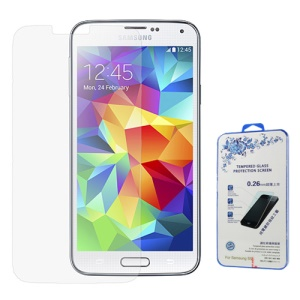 0.26mm Tempered Glass Screen Protector Guard Film for Samsung Galaxy S5 G900