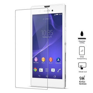 0.25mm Explosion-proof Tempered Glass Screen Film for Sony Xperia T3 D5102 D5103 D5106 (Arc Edge)