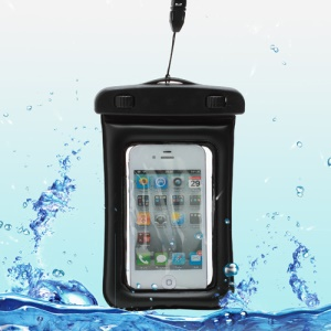 Waterproof Dry Bag Pack Case Pouch for Samsung Galaxy S4 I9500/ Galaxy I9300 / For iPhone 5 4S Etc (Size:155x105mm) - Black