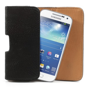 Horizontal Thick Leather Belt Clip Holster Pouch Case for Samsung i9190 Galaxy S4 Mini iPhone 4 / 4S / 5 / 5s / 5c