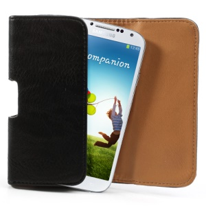 Magnetic Horizontal Thick Leather Belt Clip Holster Pouch Case for iPhone 8 7 / Samsung Galaxy S4 i9500 / S3 i9300