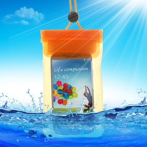 Orange Waterproof Dry Bag Pouch for iPhone Samsung Sony HTC Etc, Fat Size: 13.5 x 9cm