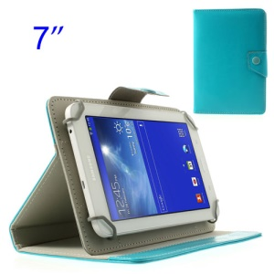 Baby Blue Crazy Horse Tablet Leather Case for Samsung Tab T110 P3210 P6210/ Lenovo S5000 Etc, Size: 12.5 x 19.5cm