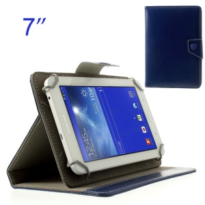 Dark Blue Crazy Horse Leather Skin Case for Samsung Tab T110 P3200 P6200/ Lenovo S5000 Etc, Size: 12.5 x 19.5cm