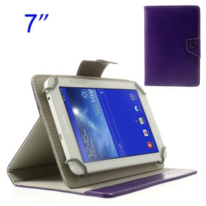 Purple Universal Crazy Horse Leather Case for Samsung Tab T110 P3200 P6200/ Lenovo S5000 Etc, Size: 12.5 x 19.5cm
