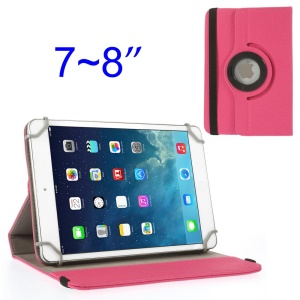 Rose 360 Degree Rotary Twill Leather Stand Case for iPad Mini 2 Retina / iPad Mini 7-8 inch Tablet PC