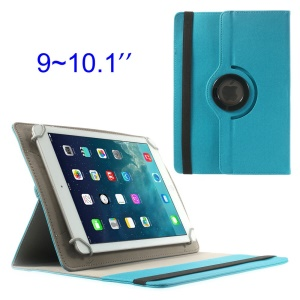 Baby Blue 360 Degree Rotary Twill Leather Stand Cover for iPad / Samsung Tab 10.1 / Sony Xperia Tablet Z 9-10 inch Tablet PC