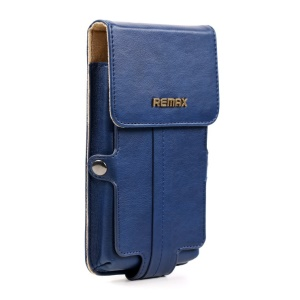 Blue Remax Pedestrian Series Leather Pouch Cover for Samsung Galaxy Note 2 / Note 3 etc, Size: 163 x 92 x 30mm (L)