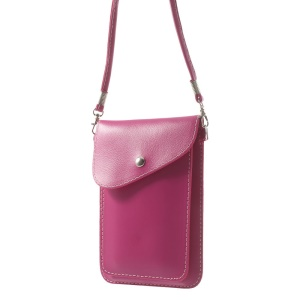 Rose Litchi Grain Leather Pouch Bag Cover for iPhone Samsung Sony HTC, Size: 18 x 12cm