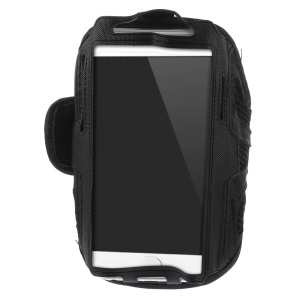 Black Sweat-absorbent Mesh Sport Armband Case for iPhone 6s 6 / Samsung Galaxy S5 G900 / S4 I9500 / S3 I9300 Etc.